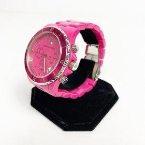 Michael Kors pink Acrylic Chronograph Watch 5272